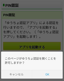 PIN認証確認