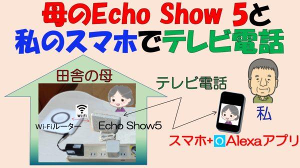 アイキャッチ「母のEchoShow 5と私のスマホでテレビ電話をする」