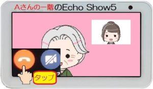 AさんのEcho Show 5終了ボタン