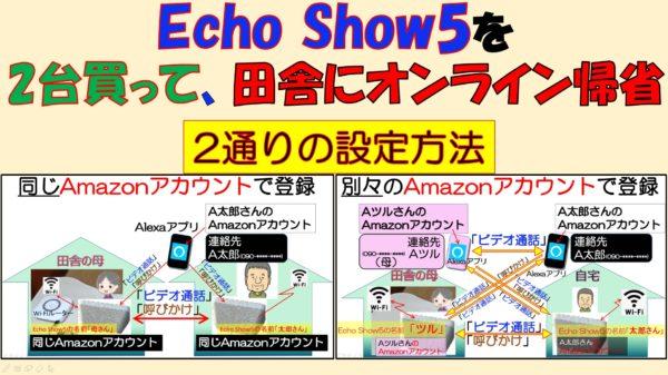 アイキャッチ_Echo show 5を2台買ってオンライン帰省
