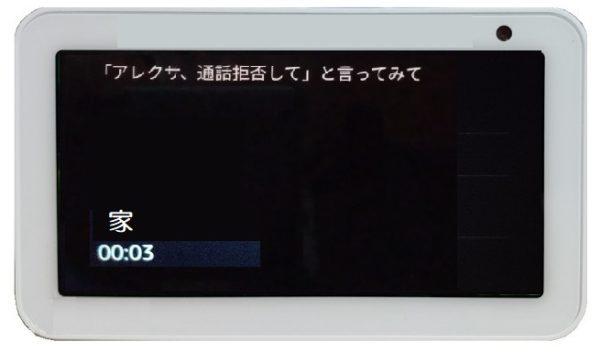 「呼びかけ」の終了画面(おばあちゃん)